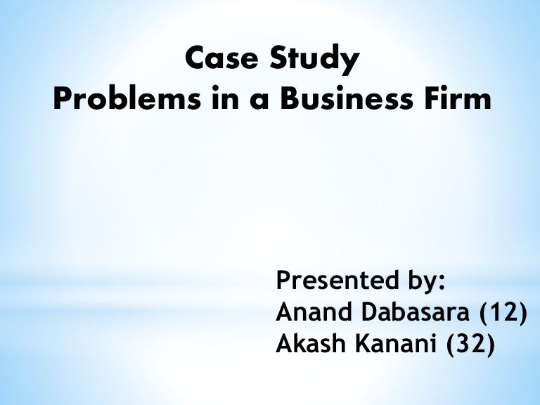 case study business problems