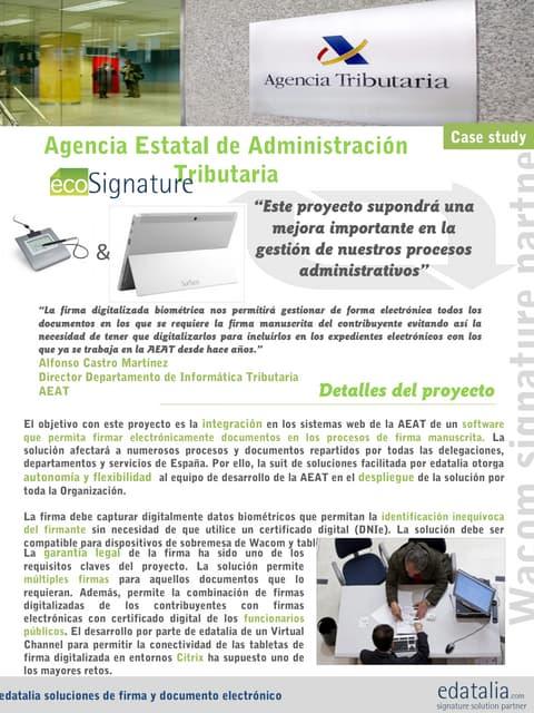 Caso de Estudio AEAT Agencia Estatal de Administración Tributaria