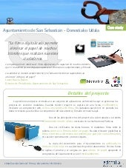 Firma digitalizada ayuntamiento donostia