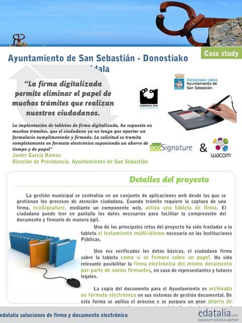 Caso de estudio Ayuntamiento de Donostia / San Sebastián