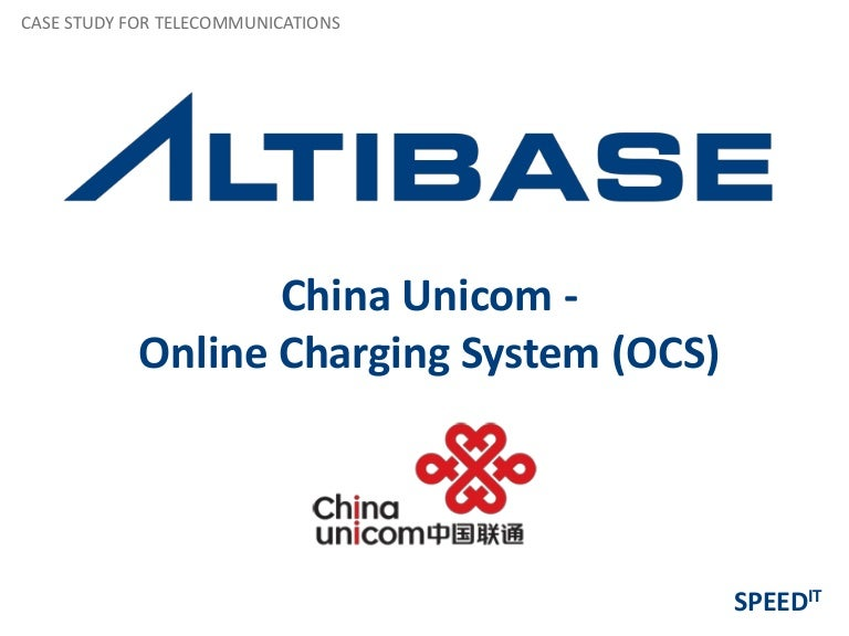 In-Memory Database Solutions for China Unicom - Online Charging System