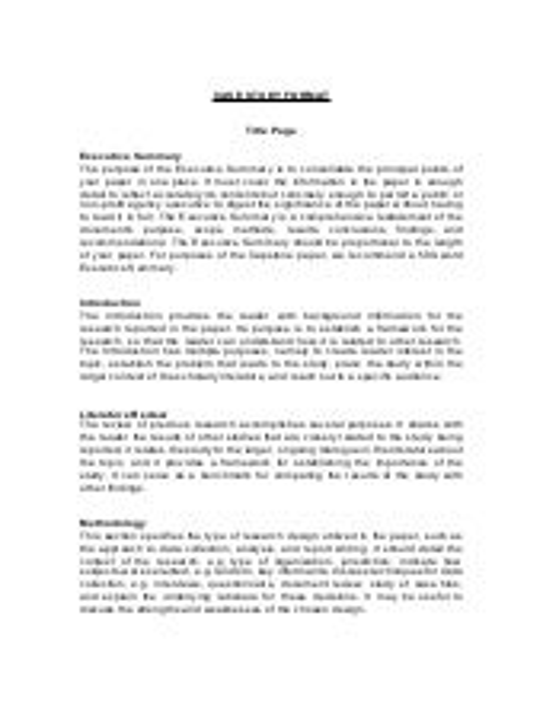 Case study in essay format