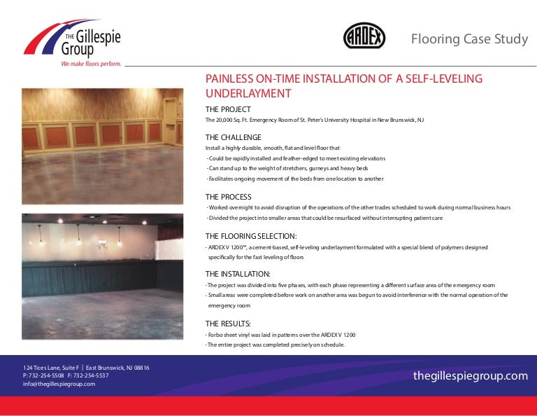 The Gillespie Group: Case Study: Commercial Flooring Ardex