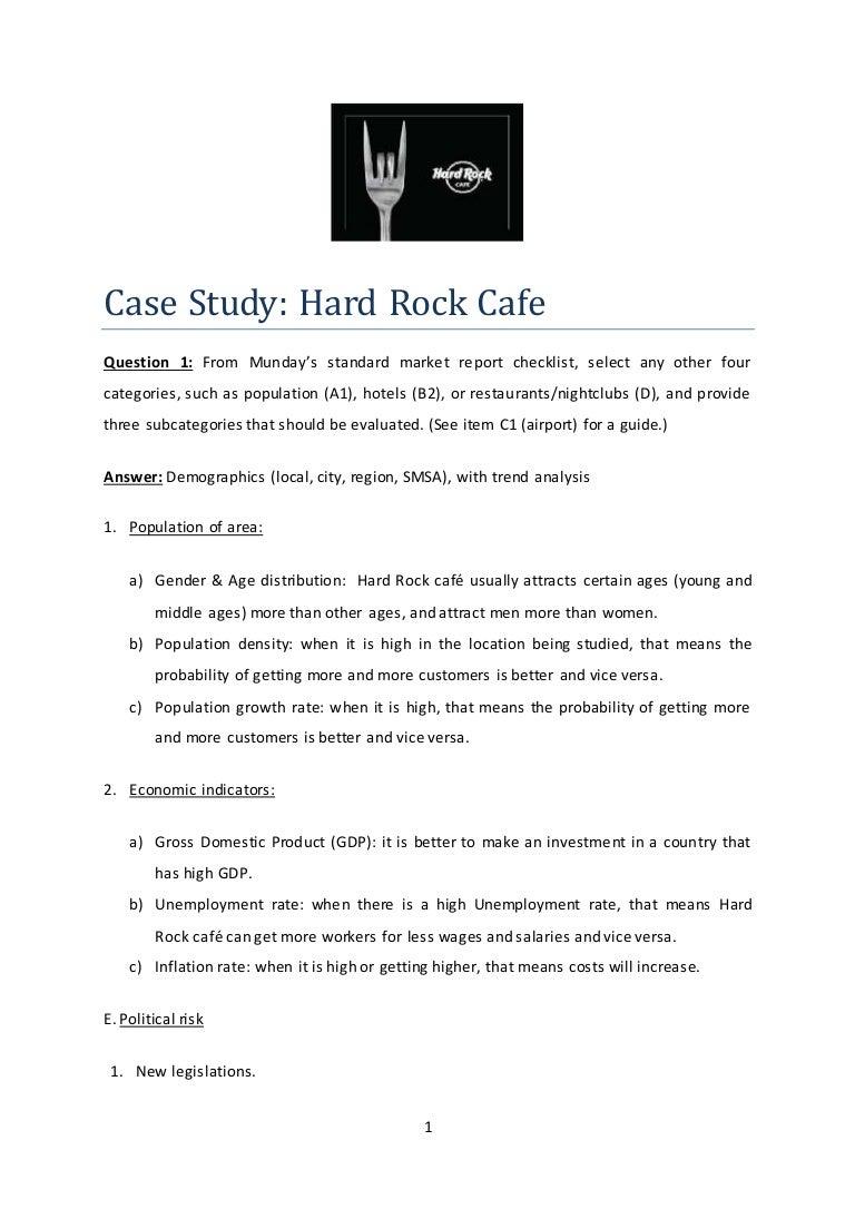 hard rock cafe case study operations management 10 decisions How the 10 decisions of operations management are hard rock café operations management & productivity case study & case analysis, global economy, hard rock.