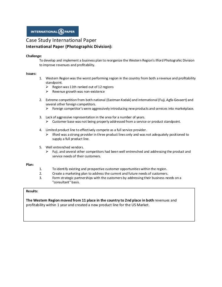 Case Study International Paper