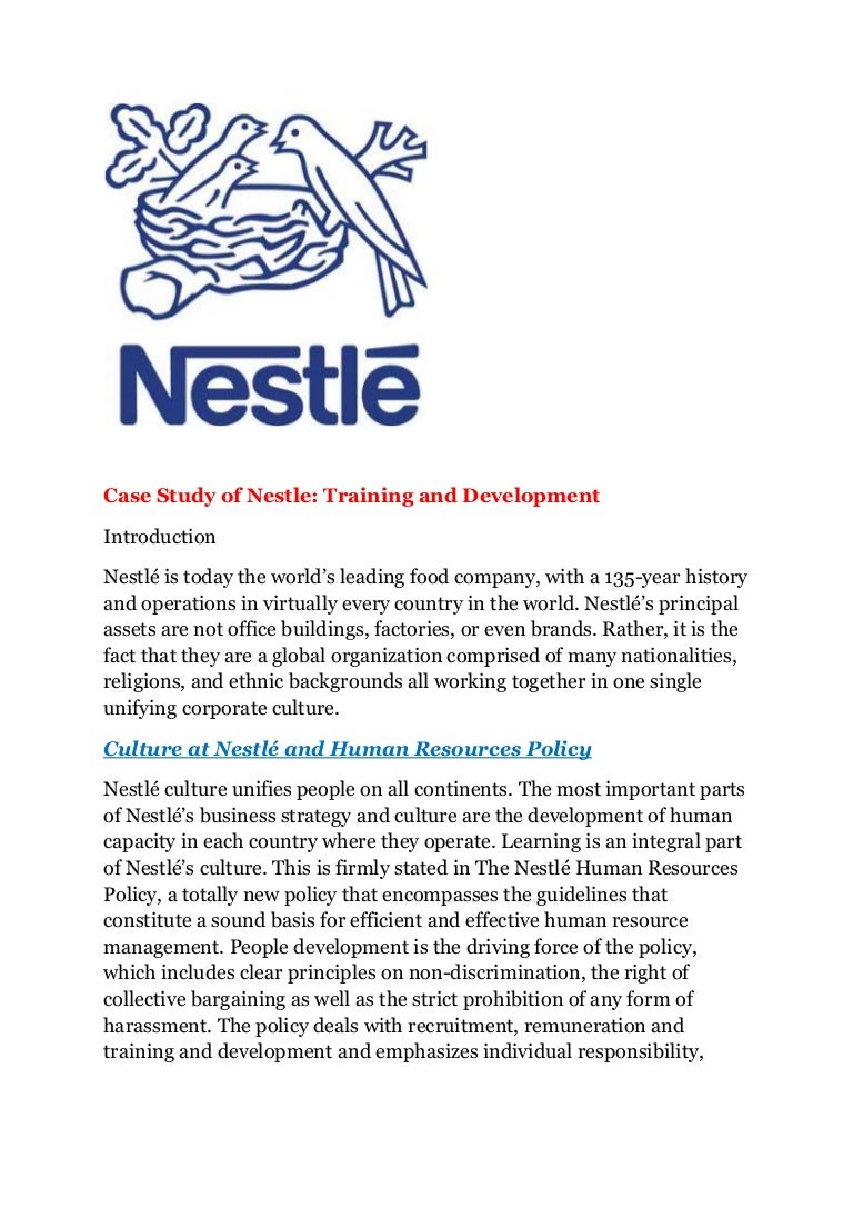 nestle human resources development program