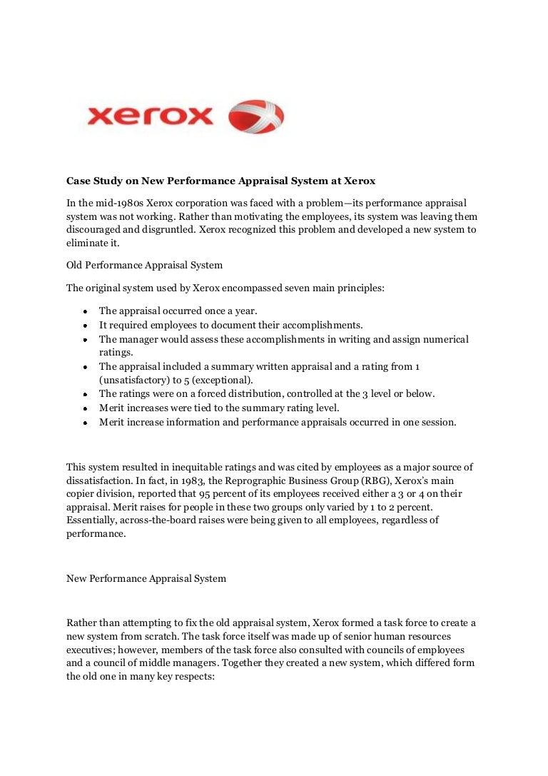 Xerox case ppt SlideShare Office Solutions