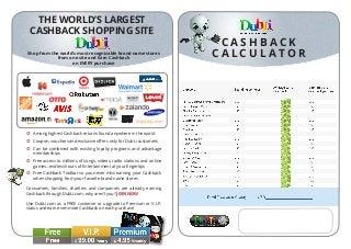Cashback Calculator ($USD$)