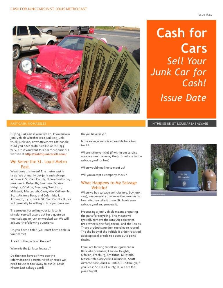 Cash for junk cars st louis metro east