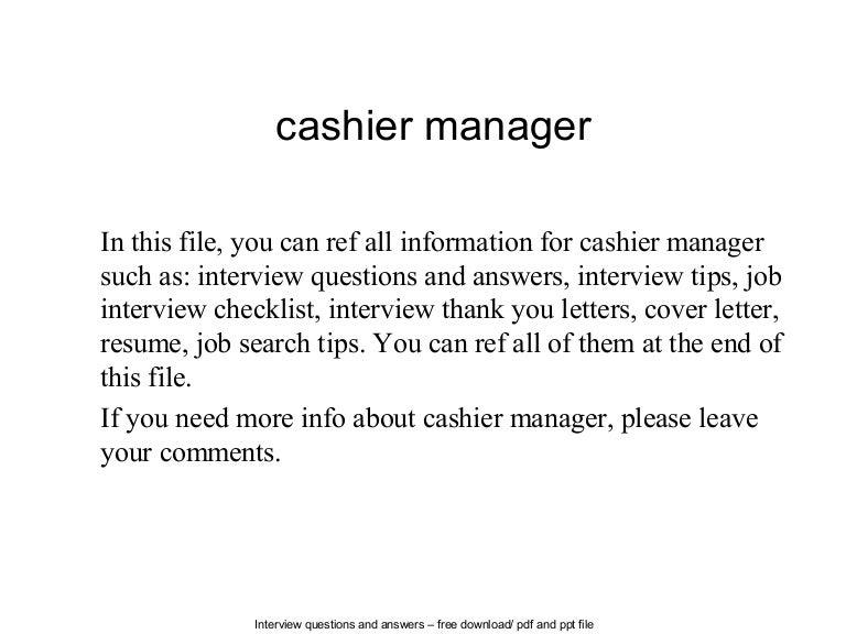 cashier manager resume sample cashier cover letter