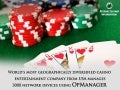Casino Entertainment Company from USA manages 3000 devices using OpManager