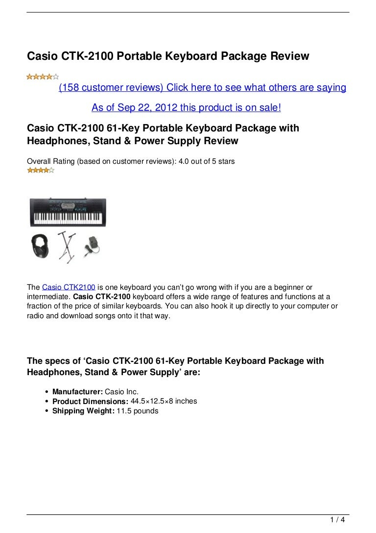 casio ctk 2100 portable keyboard package review. Black Bedroom Furniture Sets. Home Design Ideas