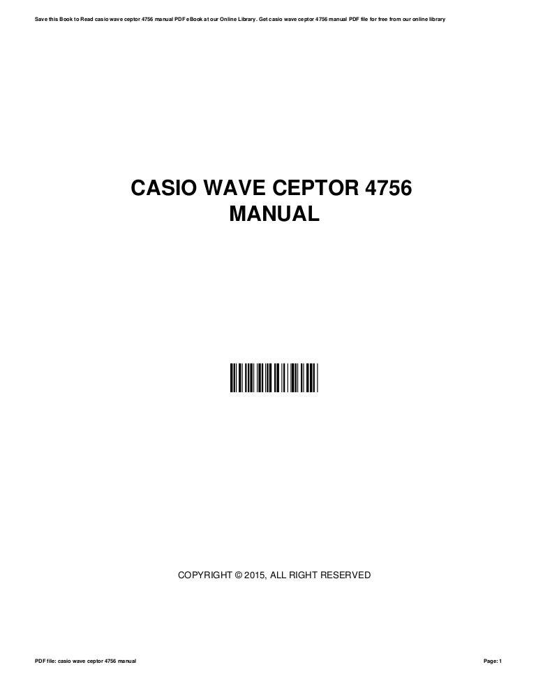 casio wave ceptor manual 4756