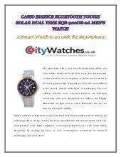 CASIO EDIFICE BLUETOOTH TOUGH SOLAR DUAL TIME EQB-900DB-2A MEN'S WATCH
