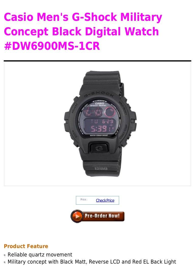 0faabc109fb Casio men s g shock military concept black digital watch  dw6900 ms-1cr
