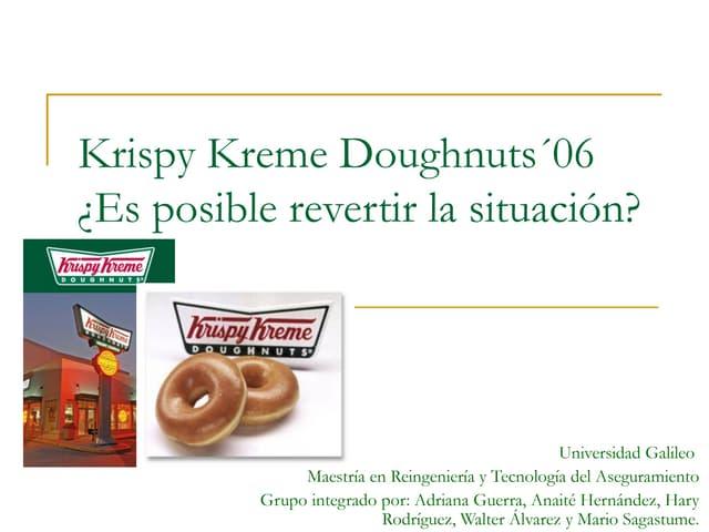 Caso Krispy Kreme Doughnuts
