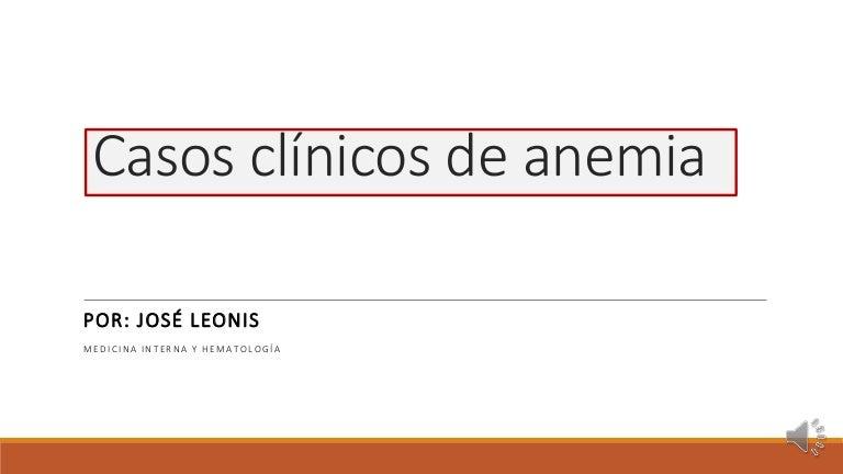 anemia sideroblastica caso clinico de diabetes