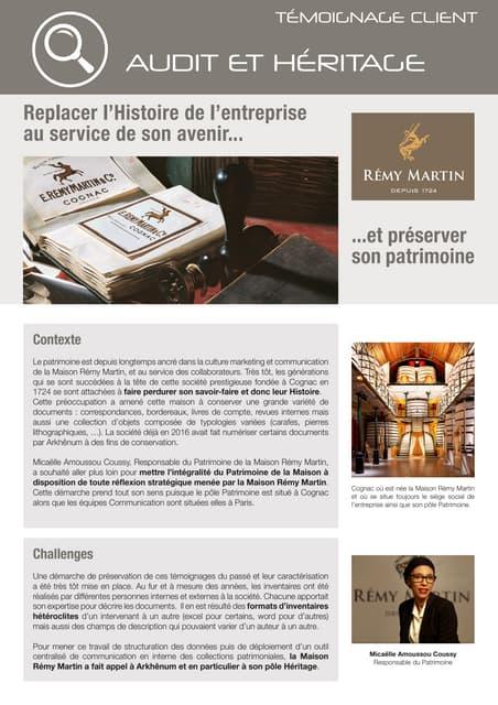 Rémy Martin replace l'Histoire de l'entreprise au service de son avenir