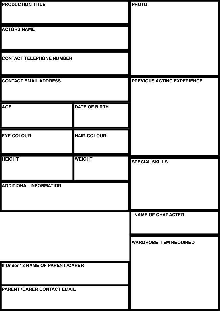 casting sheet