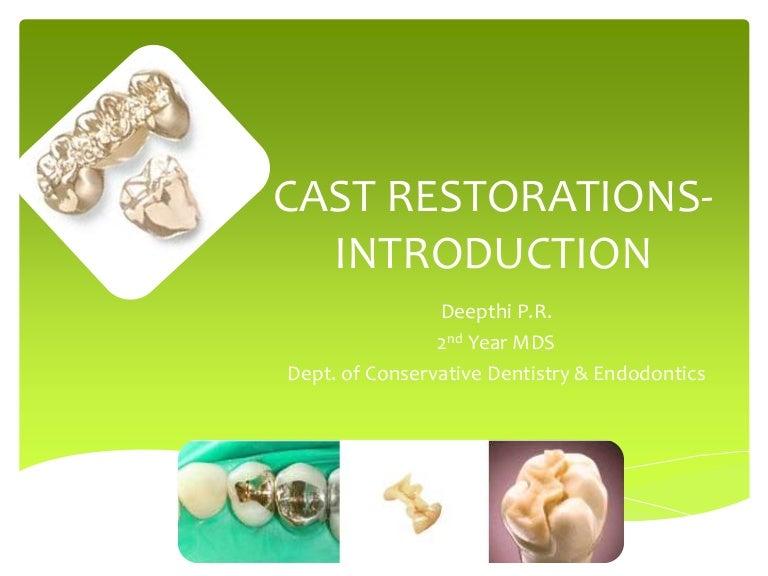 Cast restorations