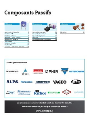 catalogue composants passifs