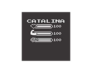 BOOK_HARCOVER LIBRARY CATALINA Pixel Retro 8 Bit Blank Design Composition Notebook Personalized College Name for Girls' Gaming Desk Stuff for Gamer Gift Birthday Christmas Gift