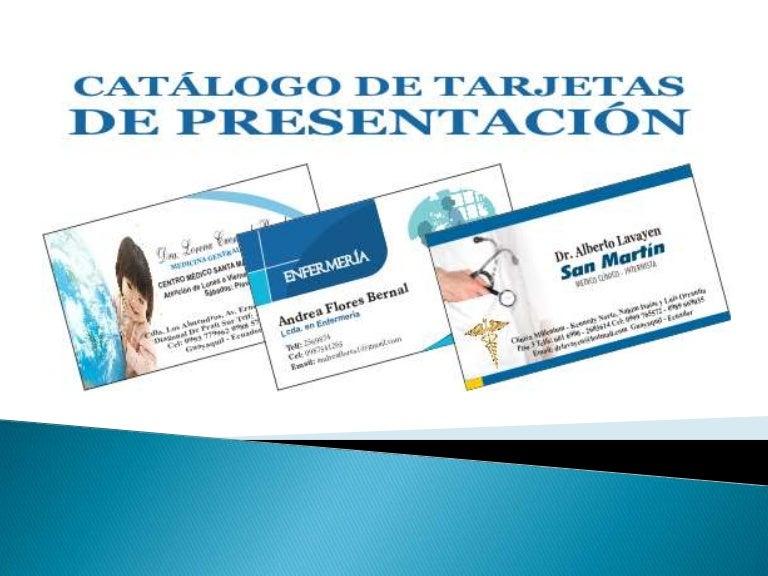 catalogo y modelos de tarjetas de presentación