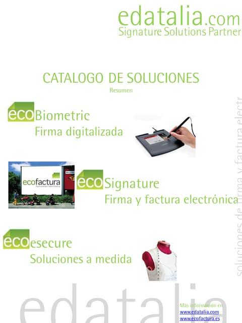 Catalogo soluciones de firma digitalizada y firma electrónica edatalia_resumen