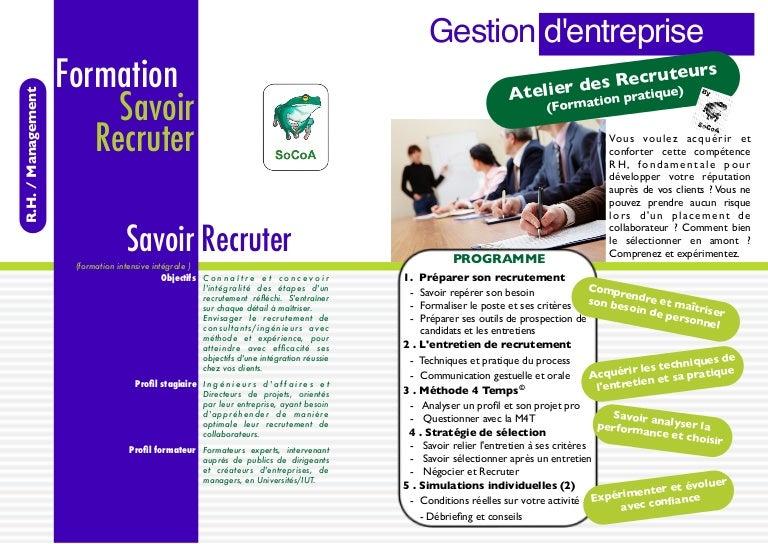 formation savoir recruter un consultant   esn