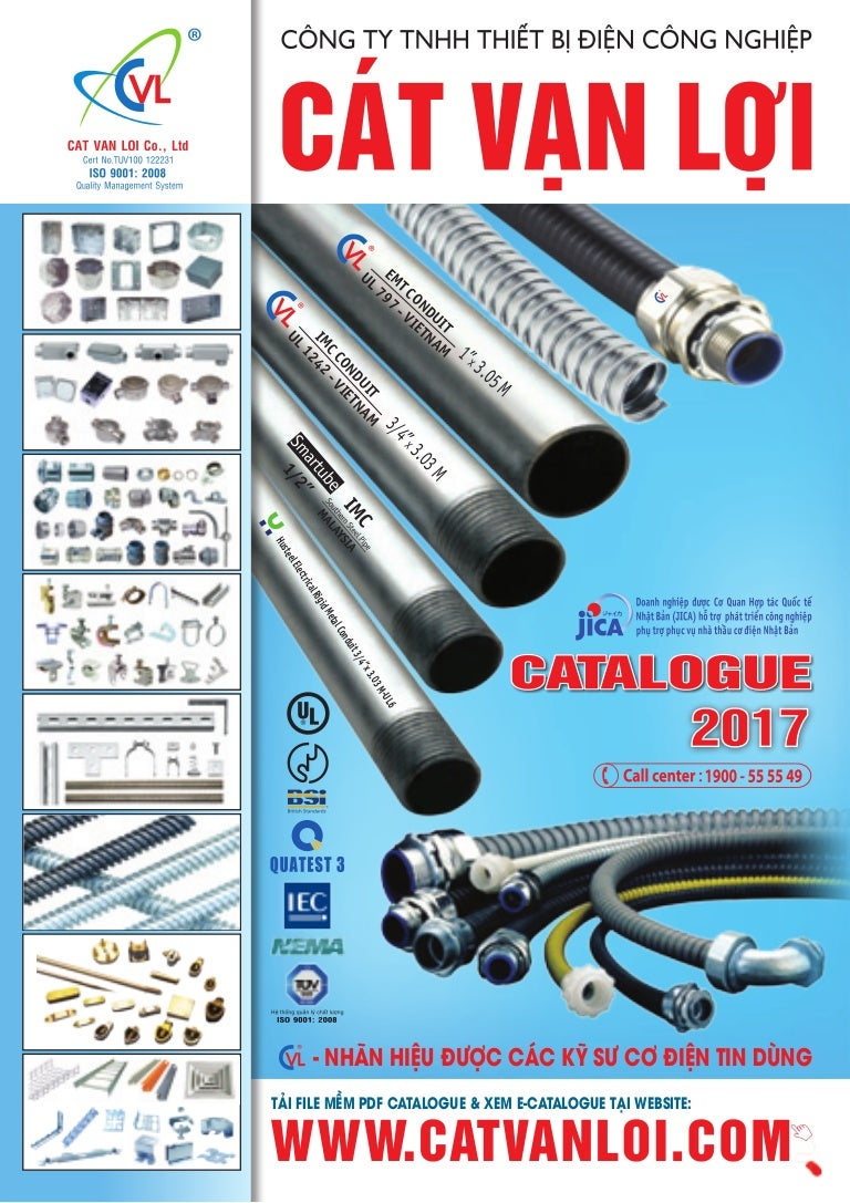 Catalogue Cat Van Loi Steel Conduit Pipe Flexible Ong Emt Electrical Metal Tubing Galvanized