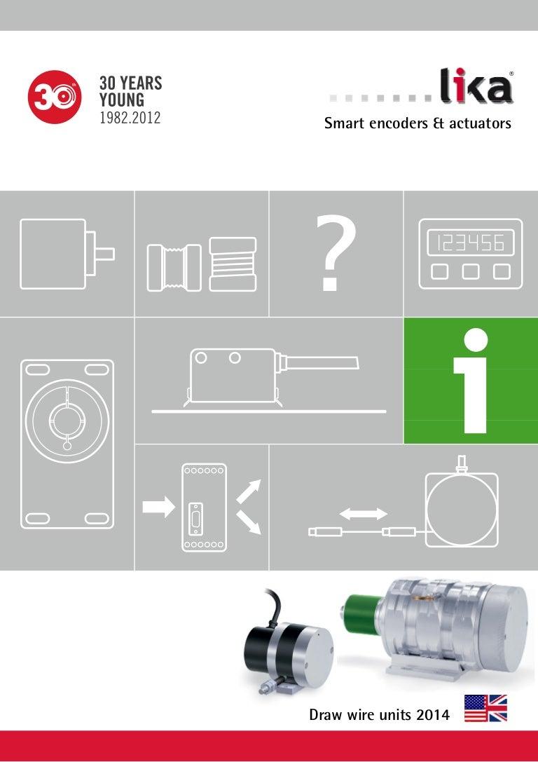 DRAW WIRE ENCODER CATALOGUE 2014 LIKA ELECTRONIC