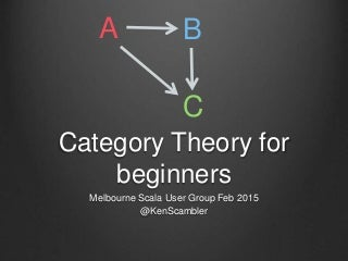 Category theory for beginners