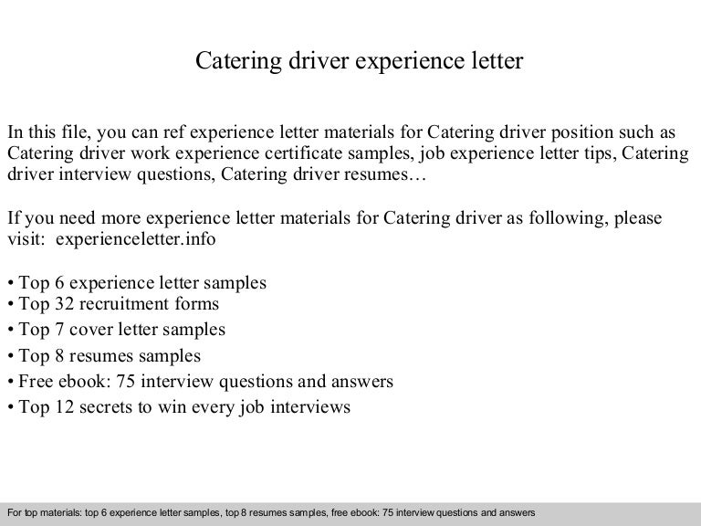 Application cover letter driver