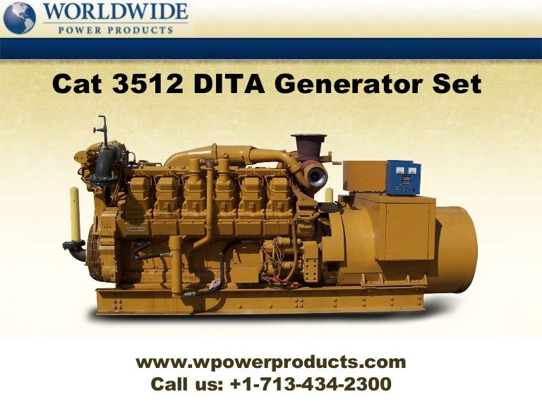 caterpillar 3512 dita generator set rh slideshare net cat 3512 service manual cat 3512b service manual