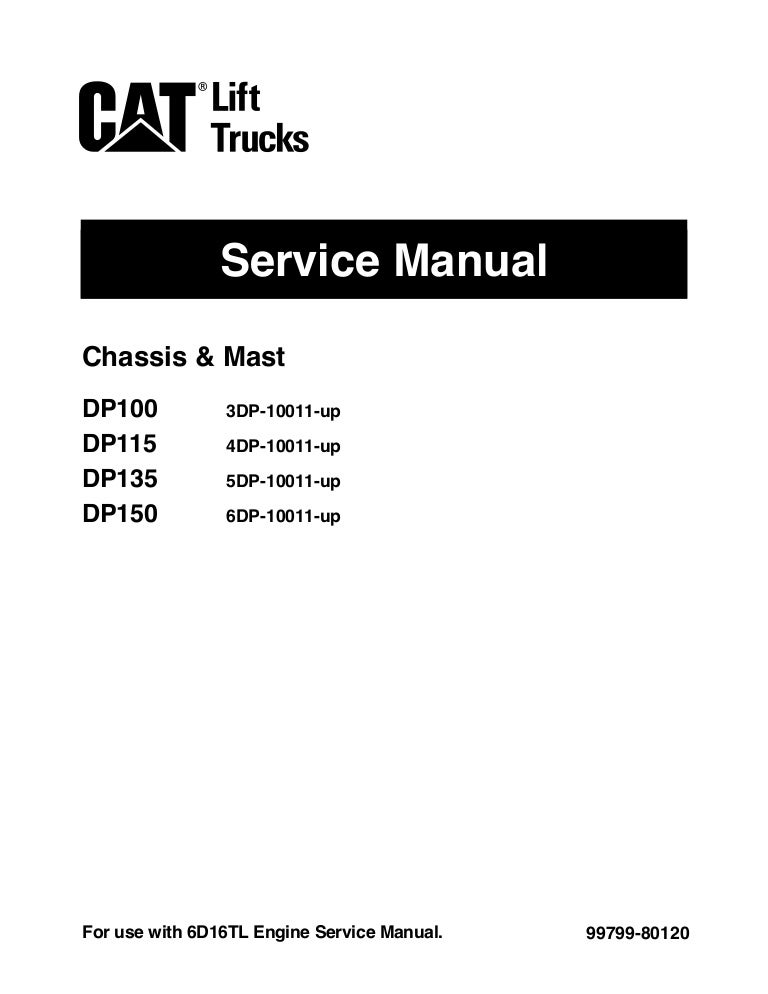 Caterpillar cat dp115 forklift lift trucks service repair manual sn:4…