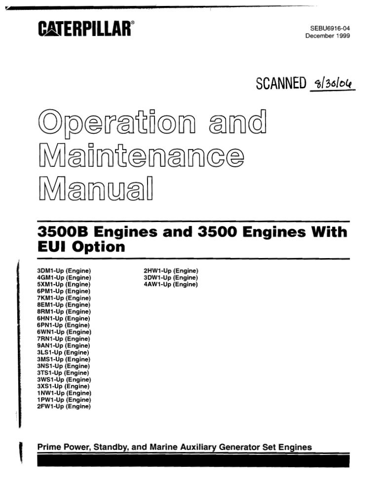 caterpillar operation and maintenance manual 3500 b engines s rh slideshare net Operations Manual Template Operations Manual Examples