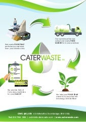 CaterWaste Food to Drain Prevention