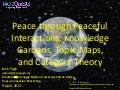 Peace through knowledge gardens, topic maps and category theory
