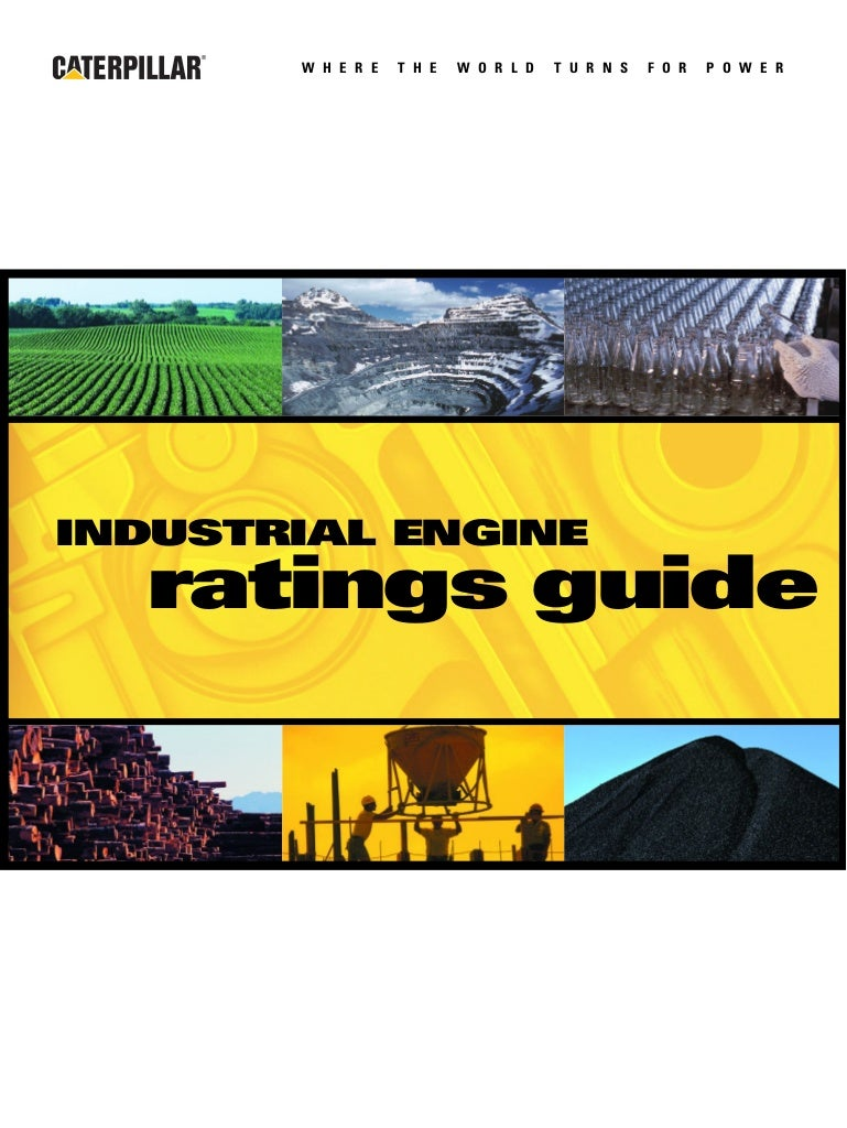 Cat industrial engines brochure
