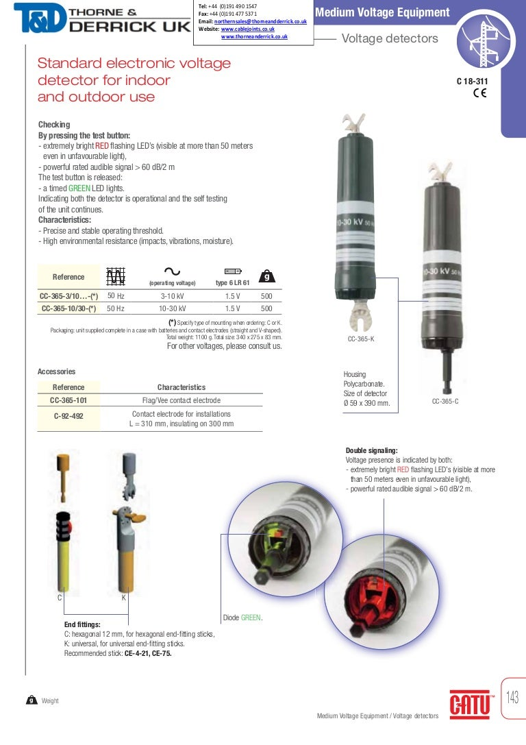 CATU CC-365 Standard Electronic Voltage Detector