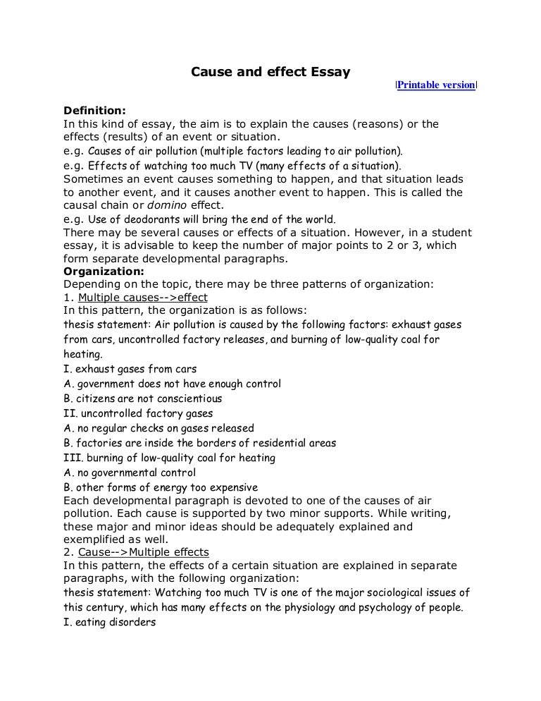 cause and effect essay topics for high school cause and effect essay  cause and effect essay high school