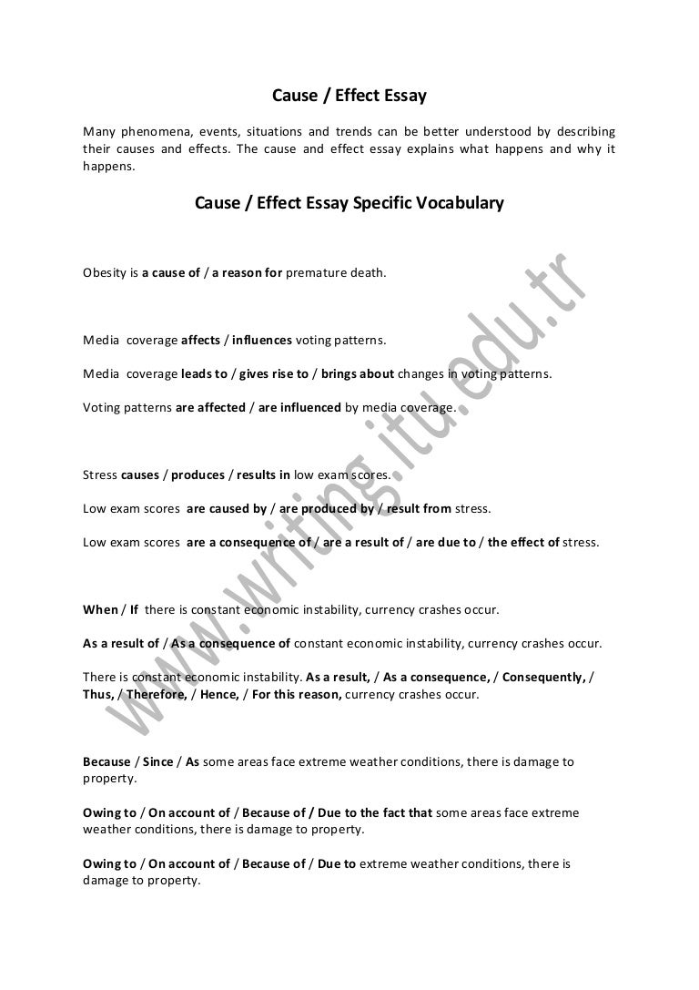 cuase and effect essays essay sample cause effect essay cause and effect essay definition