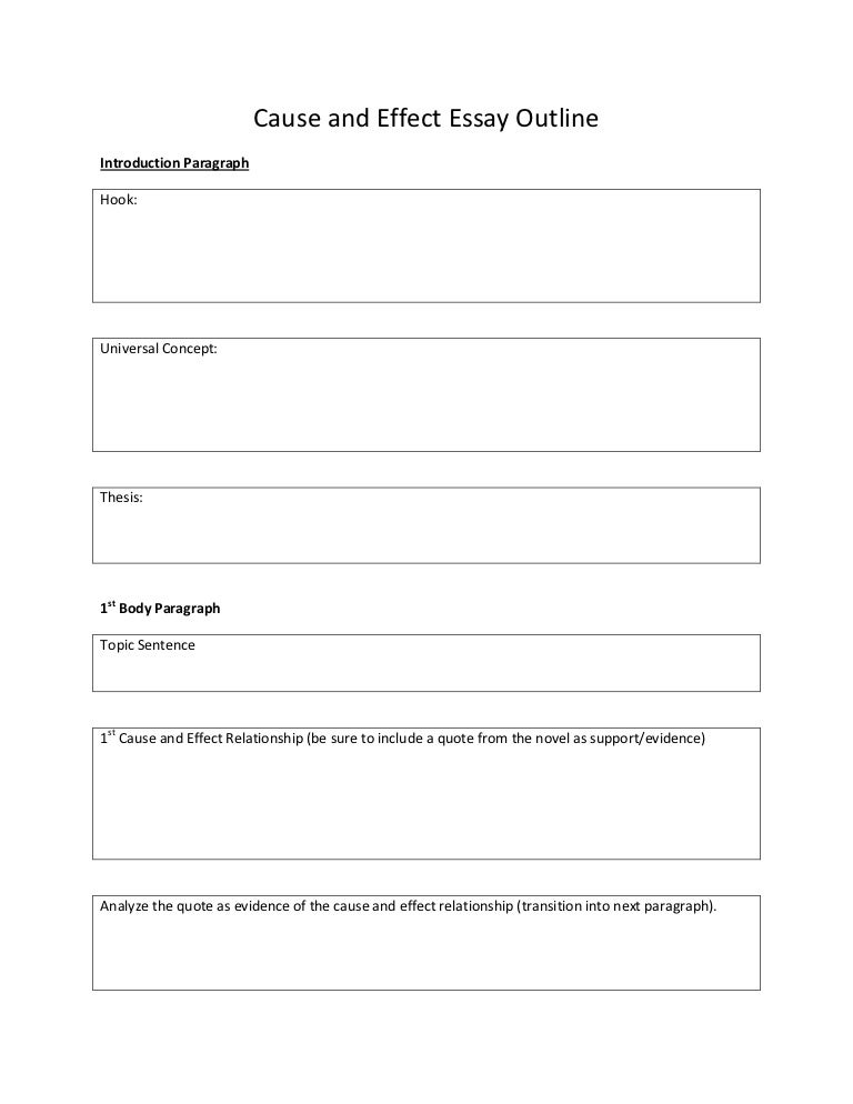 Doc.#: Outline of a Cause and Effect Essay – Top 192 what is the ...