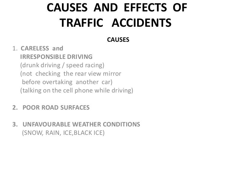 causes of accidents essay