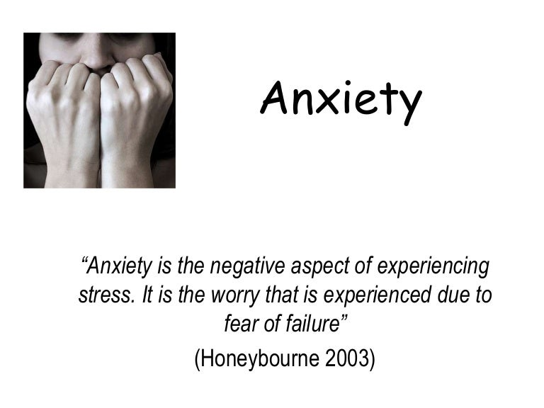 anxiety in sport examples