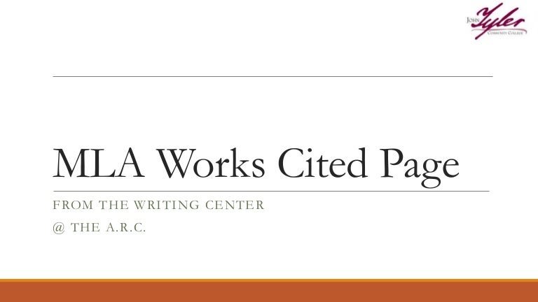 how to make an mla works cited page
