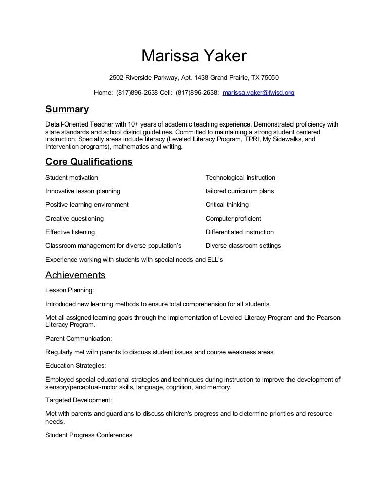 Marissa Yaker Resume1. Sample Combination Resume  How To Make A Job Resume