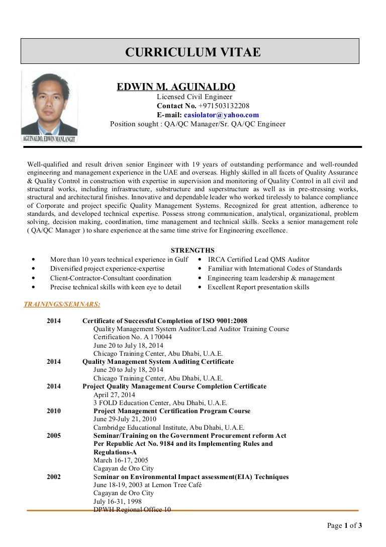 edwin cv for qa