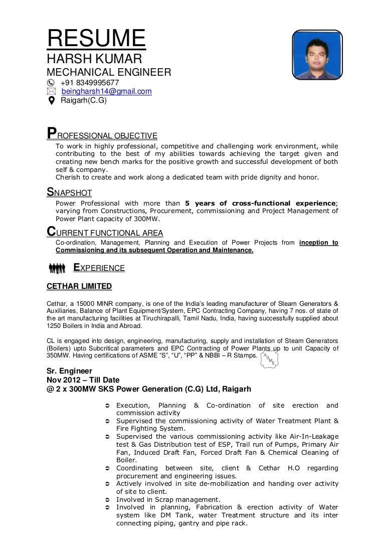 power plant operator resume examples
