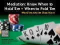 Mediation- What Every Advocate Should Know